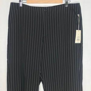 BNWT A New Day Clean Front Black Pinstripe Pants